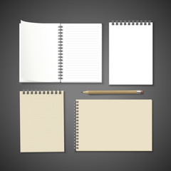 notebooks with stationery