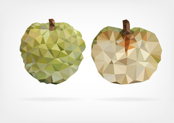 Low Poly Annona fruit