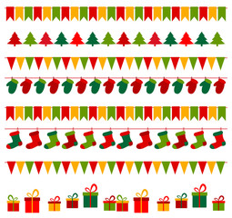 Christmas bunting and gifts