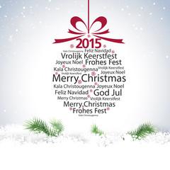 2015 christmas ball typography