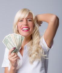 Mädchen und Geld