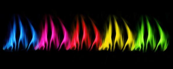 Bunte Flammen