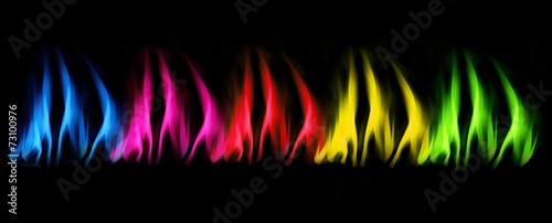 In de dag Vuur / Vlam Bunte Flammen