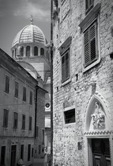 Croatia - Sibenik - monochrome black white photo