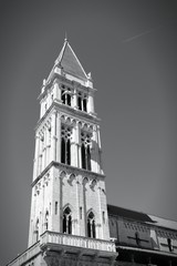 Trogir, Croatia - monochrome black white photo