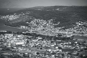 Croatia - Trogir - monochrome black white photo