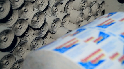 Rolls of toilet paper manufacture
