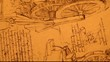 14th Century Leonardo da Vinci engineering drawing