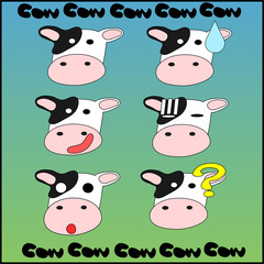 Emoticon [ Mr.Cow : 001 ]