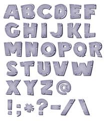 Cartoon Stone Alphabet