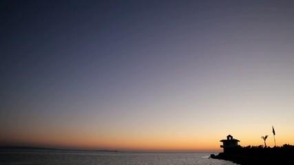 dawn beach in Egypt