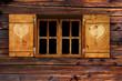 Leinwanddruck Bild - Fenster mit Fensterladen