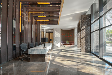 Reception area of a sales office