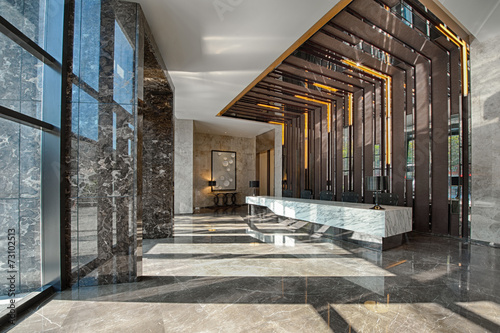 Reception area of a sales office - 73102513