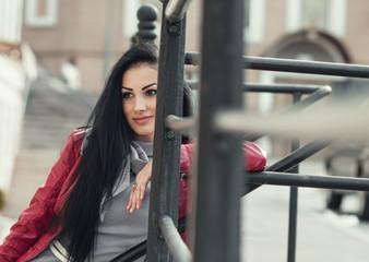 Young pretty modern woman posing