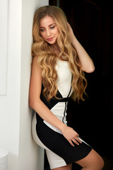 Beautiful blonde with long wavy hair