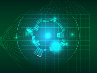 Abstract green grid equalizer background