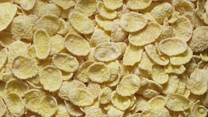 Corn flakes rotating top view