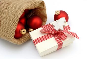 Weihnachtsgeschenk im Sack