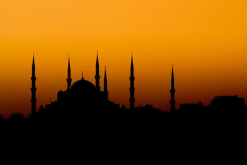 Istanbul Mosque Silhouette