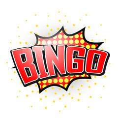 Bingo, Comic Speech Bubble
