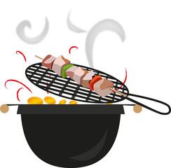 spiedino sul BBQ