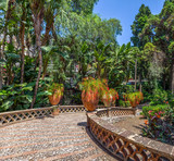Fototapety Villa Communale in Taormina, Sicily.
