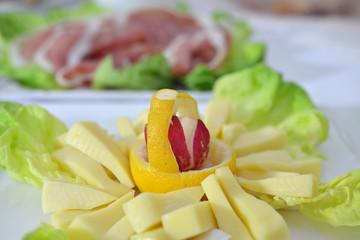 formaggio e ravanello