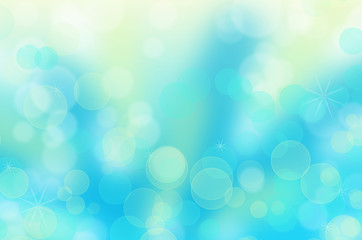 Abstract christmas circular bokeh blue background