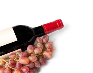 Red Wine Bottle Background