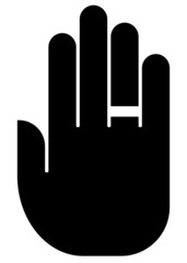 Hand with ring icon