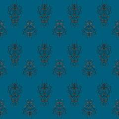 seamless blue retro pattern
