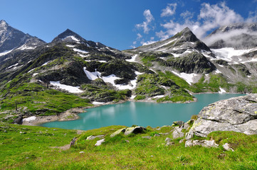 White Lake in National park Hohe Tauern - Austrian Alps