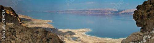 Spoed canvasdoek 2cm dik Midden Oosten Dead Sea panorama.