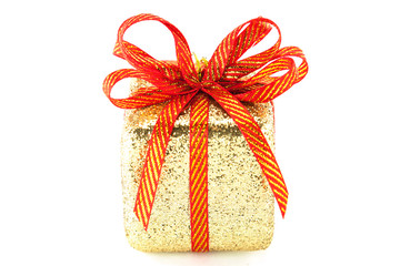 gold box gift for christmas and happy new year