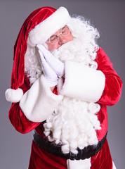 Santa Claus shows gesture