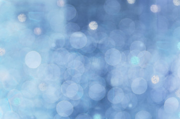 Abstract circular bokeh cold blue background