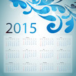 2015 Calendar. Vector illustration with floral elements