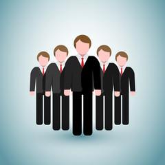 Leader - Business Men Icons