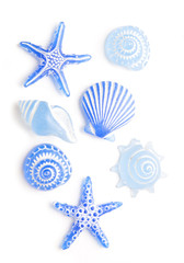 blue sea shell ornaments