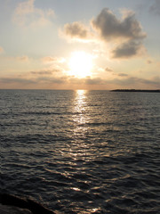 Tyrrhenian Sea, sunset