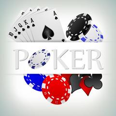 vector illustration poker gambling chips poster . poker collecti