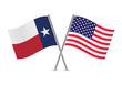 American and Texas flags. Vector illustration. - 73110739