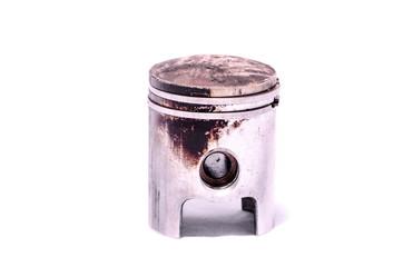 Old Worn Engine Piston