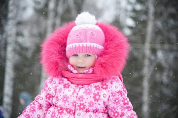Cute girl winter portrait