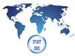 World map countries blue gradient start 2015