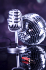 professional silver microphone