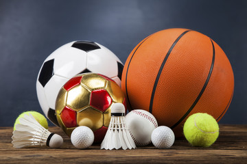 Sports accessories. paddles, sticks, balls and more
