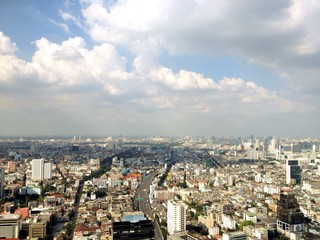 top view from bangkok thailand