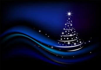 Christmas background with Christmas tree.